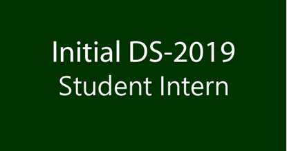 DS2019 Student Intern