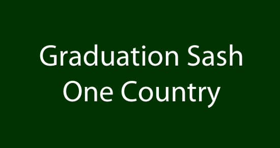 Graduation Sash (One Country)