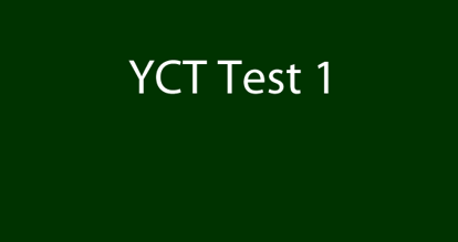 Picture of YCT 1 Test