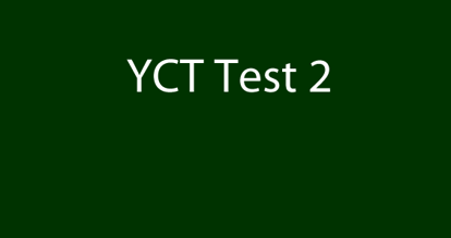 Picture of YCT 2 Test