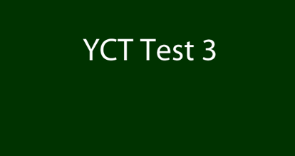 Picture of YCT 3 Test