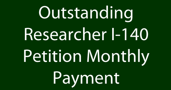 Picture of Outstanding Researcher I-140 Petition Fee - Payment