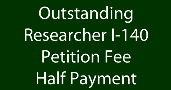 Picture of Outstanding Researcher I-140 Petition Fee - $1500 Payment