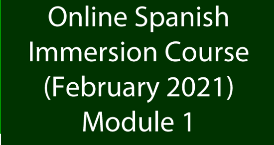 Picture of Online Spanish Immersion February 2021 Module 1